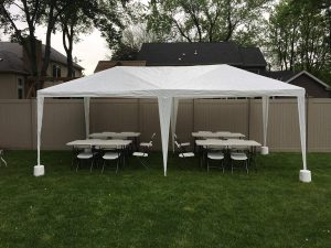 10'x20' Heavy Duty Canopy Gazebo Outdoor Party Wedding Tent Pavilion w/ 4 Removable Side Walls
