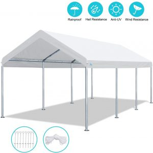 ADVANCE OUTDOOR 10 x 20 FT Heavy Duty Carport Car Canopy Garage Shelter Party Tent