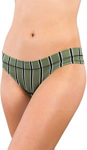 Alyce Intimates Women's Cotton Thong Panties, 18 Pack, Assorted Colors & Prints