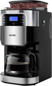 Barsetto Grind and Brew Automatic Coffee Maker with Digital Programmalbe Drip Coffee Machine