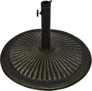 Best Choice Products Round 50-Pound Heavy-Duty Rustic Cast Iron Patio Umbrella Base