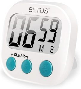 Betus Digital Kitchen Timer -Magnetic Backing or Table Stand