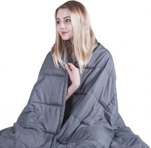 COMHO Weighted Blanket Cotton Heavy Blanket 20 lbs Queen Size