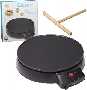 Crepe Maker and Non-Stick 12 Griddle- Electric_