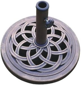 DC America UBP18181-BR 18-Inch Cast Stone Umbrella Base