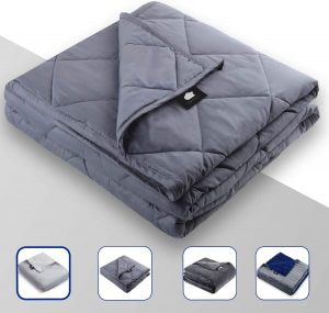 DREAMality Premium Cooling Weighted Blanket 25 lbs for Adult or Kids