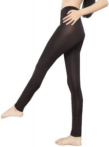 Lazutom Sexy Women Lady See-Through Nylon Open Zip Crotch Leggings Pants