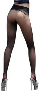 LinvMe Women's Sexy See Through Low Waist Tights Seamless Pantyhose