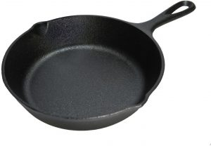 Lodge 6.5 Inch Cast Iron Skillet. Extra Small Cast Iron Skillet for Stovetop, Oven, or Camp Cooking