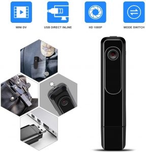 Mini Body Camera with USB Port DZFtech Body Spy Cam HD 1080P Wireless Portable Hidden Spy Pen Body Camera