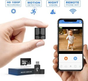 Mini Spy Camera WiFi, Ehomful 1080P HD Wireless Hidden Camera Live Streaming with App