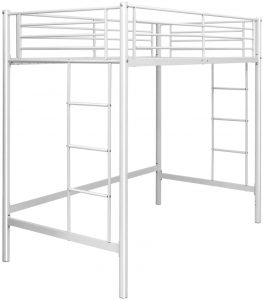 Safstar Metal Twin Loft Beds for Kids Multifunctional Twin Size Loft Bunk Bed