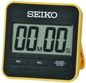 Seiko Digital Countdown Timer and Stopwatch with Stand - Yellow