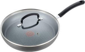 T-fal E76598 Ultimate Hard Anodized Nonstick 12 Inch Fry Pan with Lid