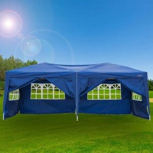 VINGLI 10X20 Feet Pop Up Canopy,Instant Tent,6 Removable Sidewalls,Folding EZ Up Canopy Tent