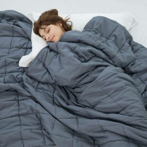 Weighted Idea Cool Weighted Blanket Twin Size 15 lbs Adults