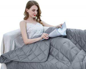 ZZZhen Weighted Blanket - High Breathability - Premium Heavy Blankets_