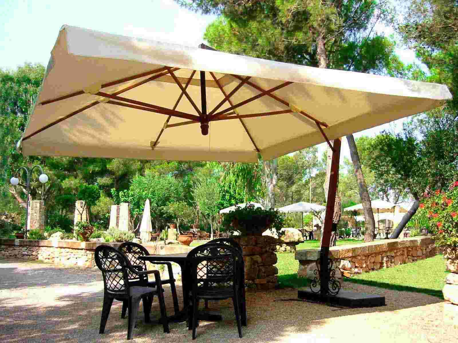 Patio Ideas Large Cantilever Patio Umbrella With Black Patio pertaining to size 1600 X 1200
