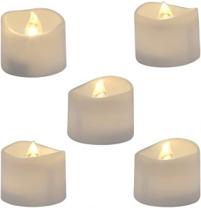 Homemory Realistic and Bright Flickering Bulb Battery Operated Flameless LED Tea Light