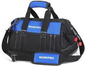 Workpro 16 inches wide-mouth tool bag