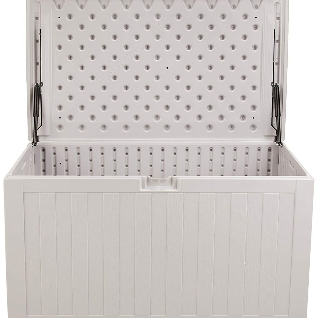 Amazon Basics 134-Gallon Resin Deck Storage Box