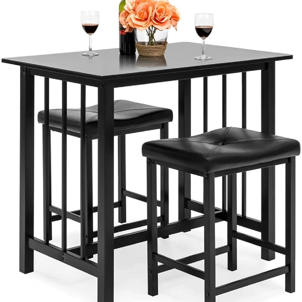 Best Choice Products 3-Piece Counter Height Bar Set