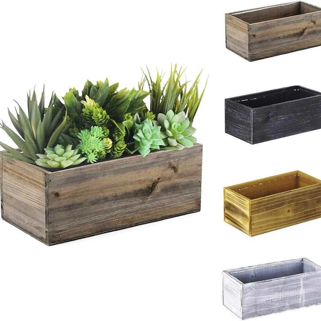 CYS EXCEL Rustic Wood Planter Box