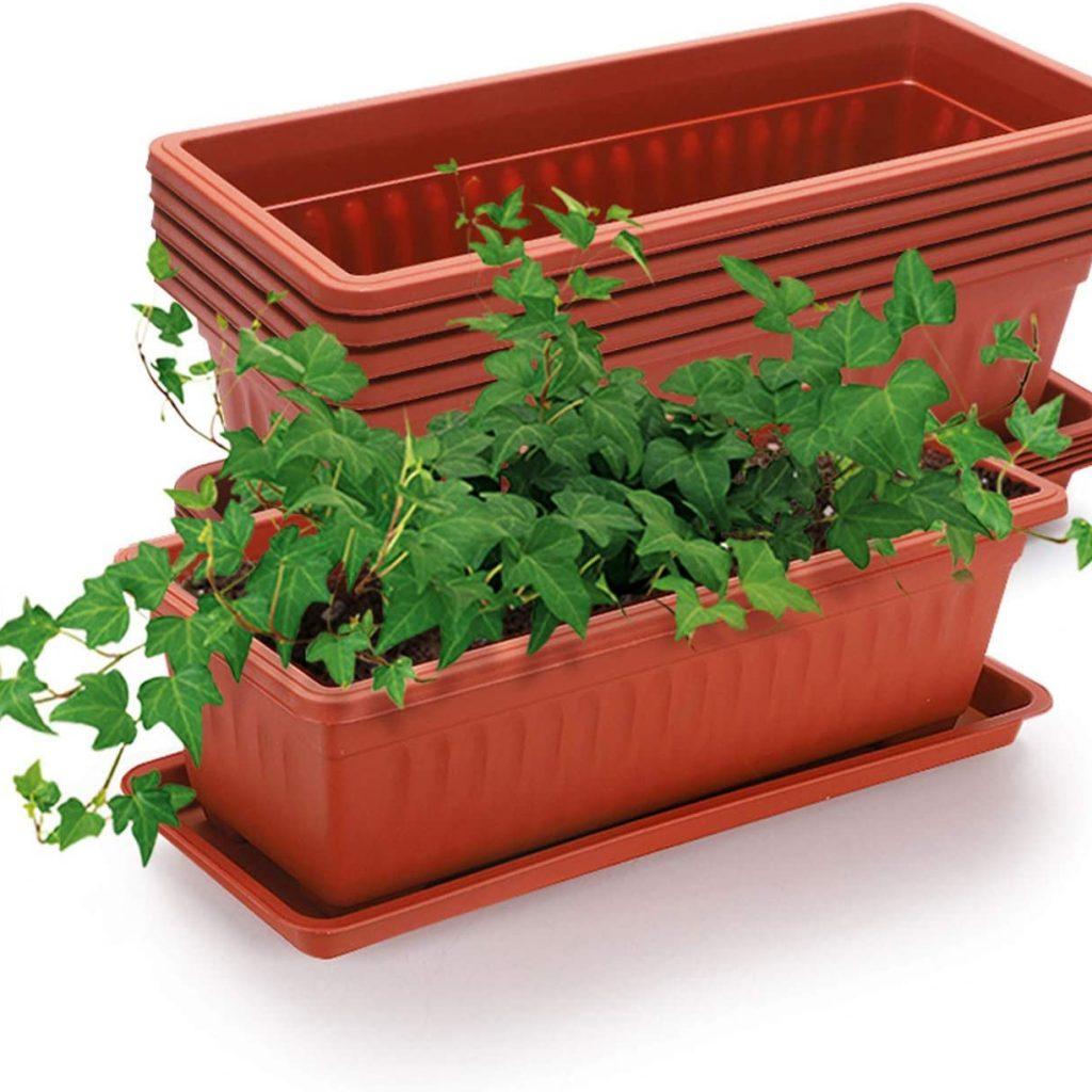 GROWNEER Terracotta Color Flower Box