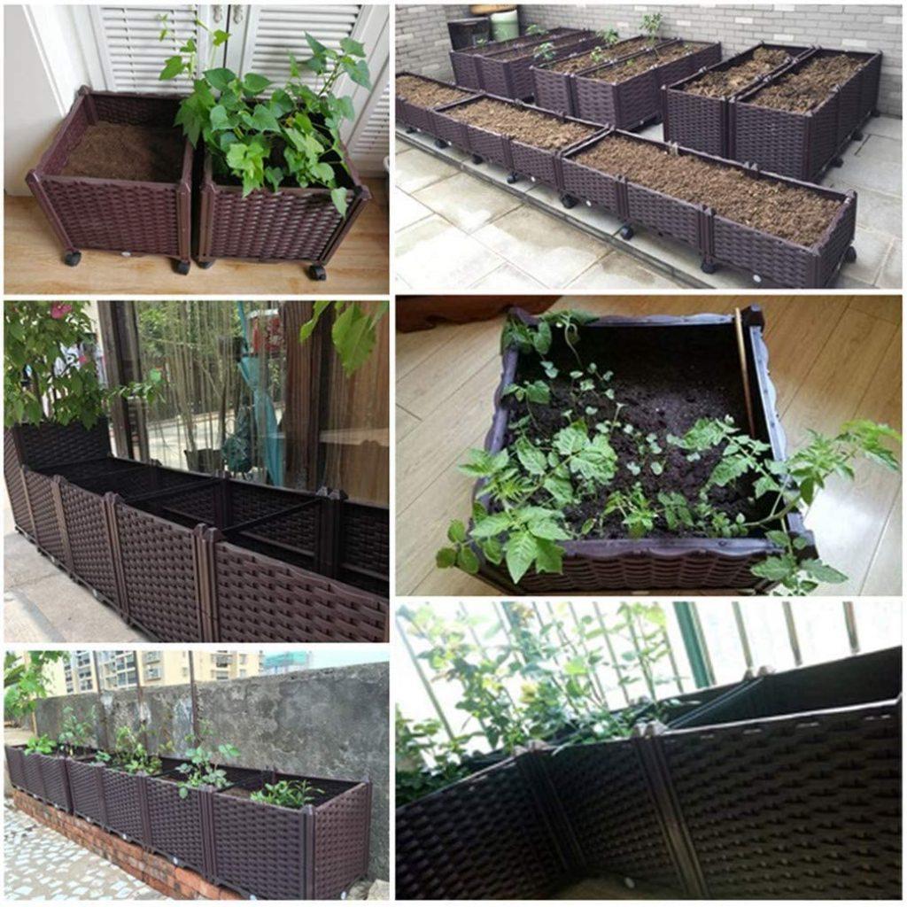 Hershii Plastic Rectangular Planter Box