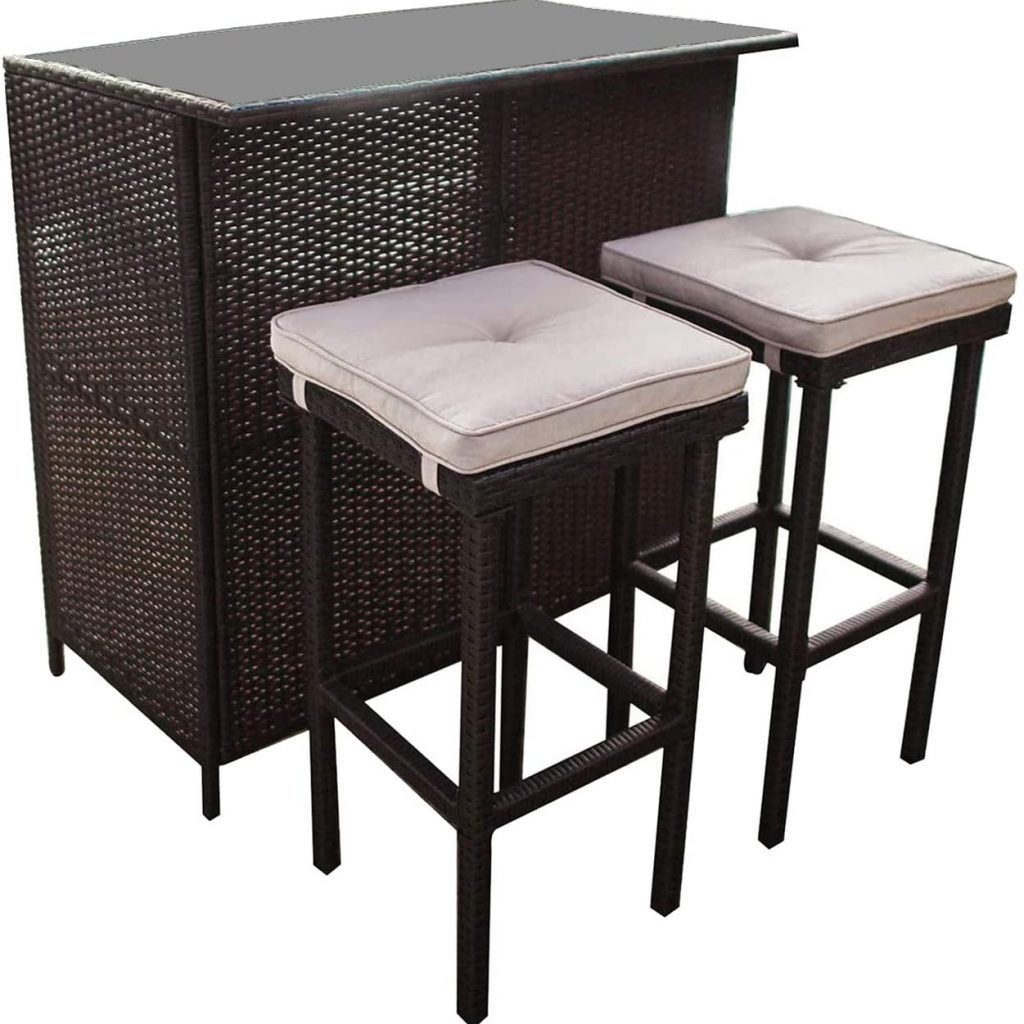 SUNCROWN Outdoor Bar Set