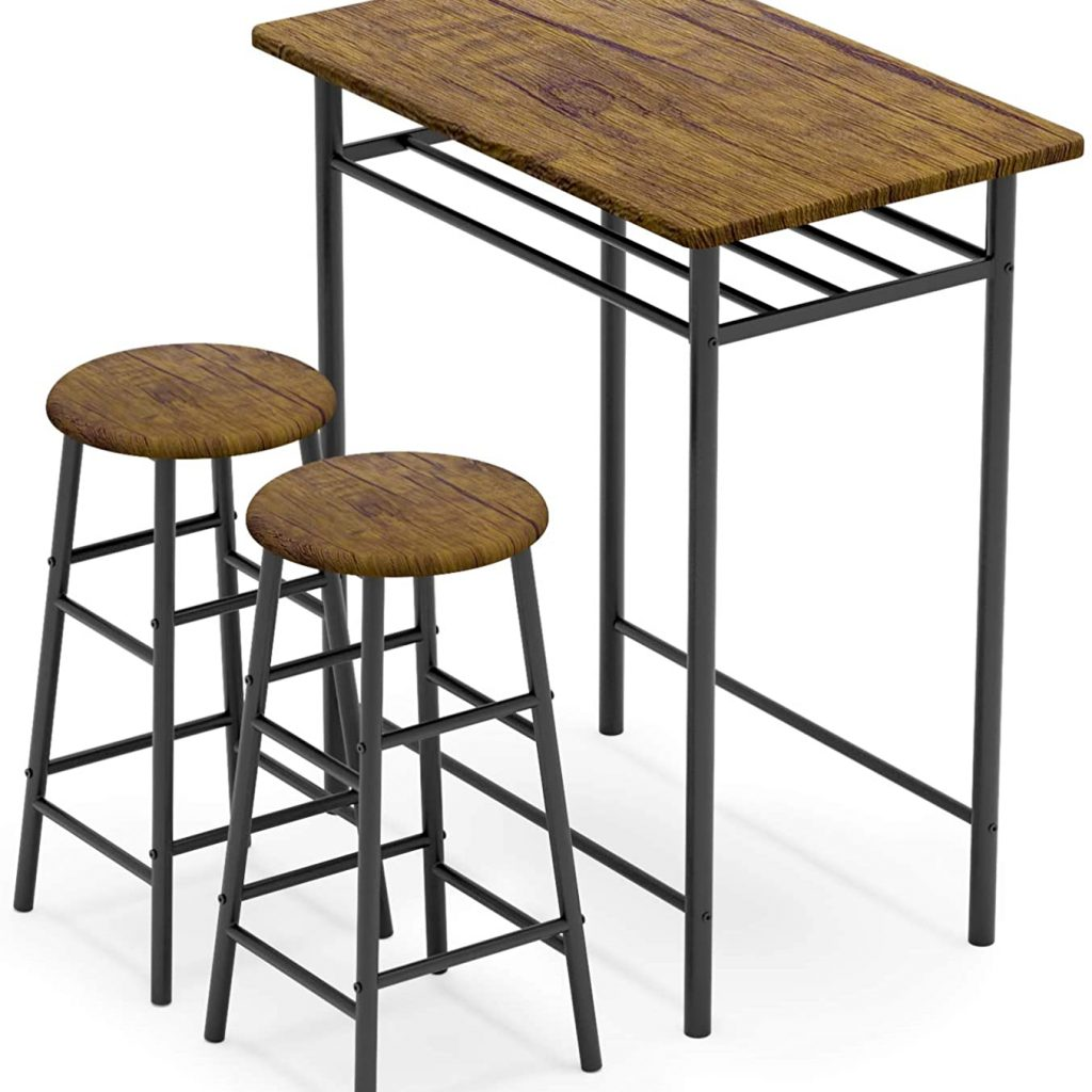 WeeHom 3 Pieces Bar Table Set