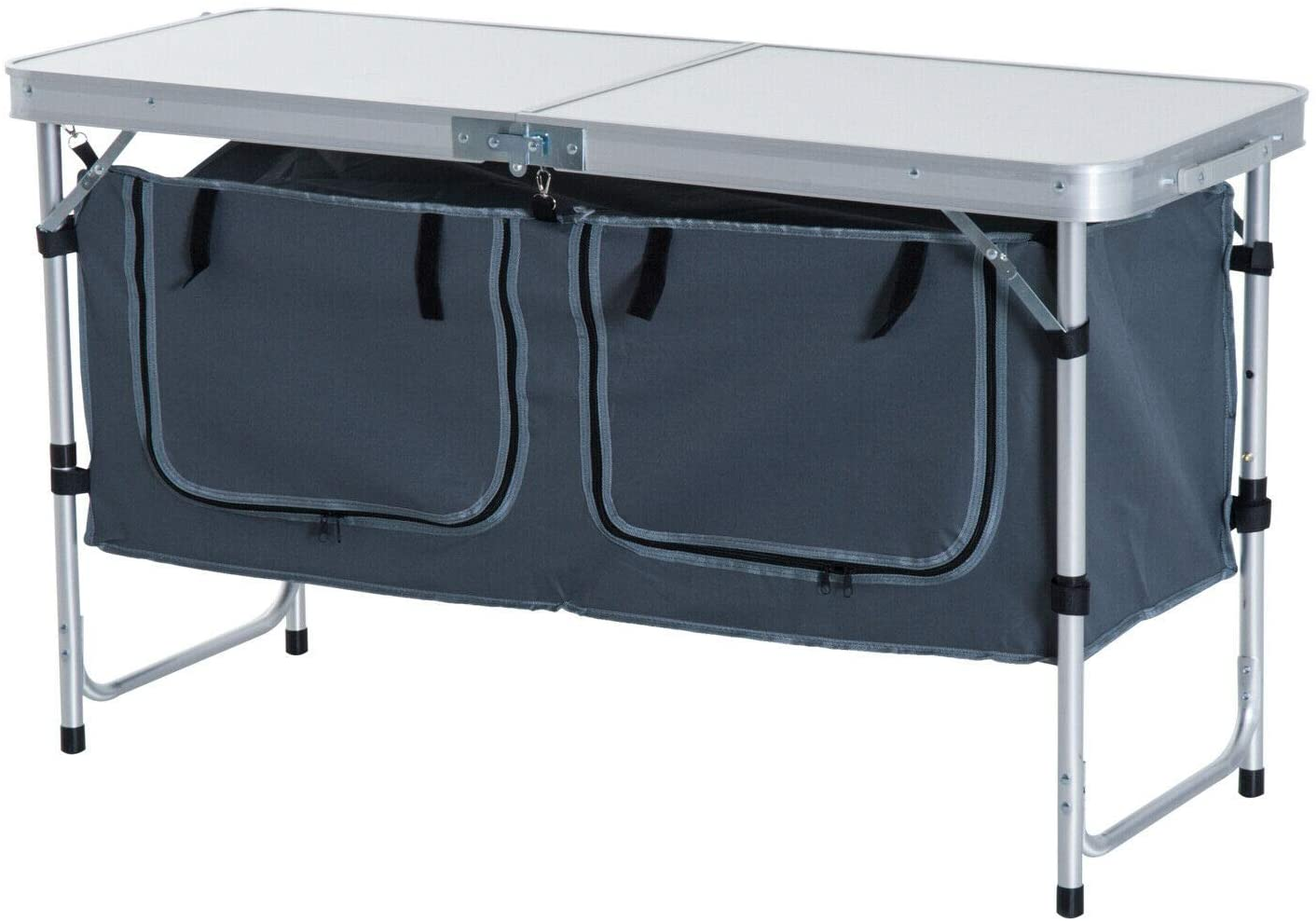 AyaMastro Outdoor Folding Camping Table with Fabric Storage Organizer