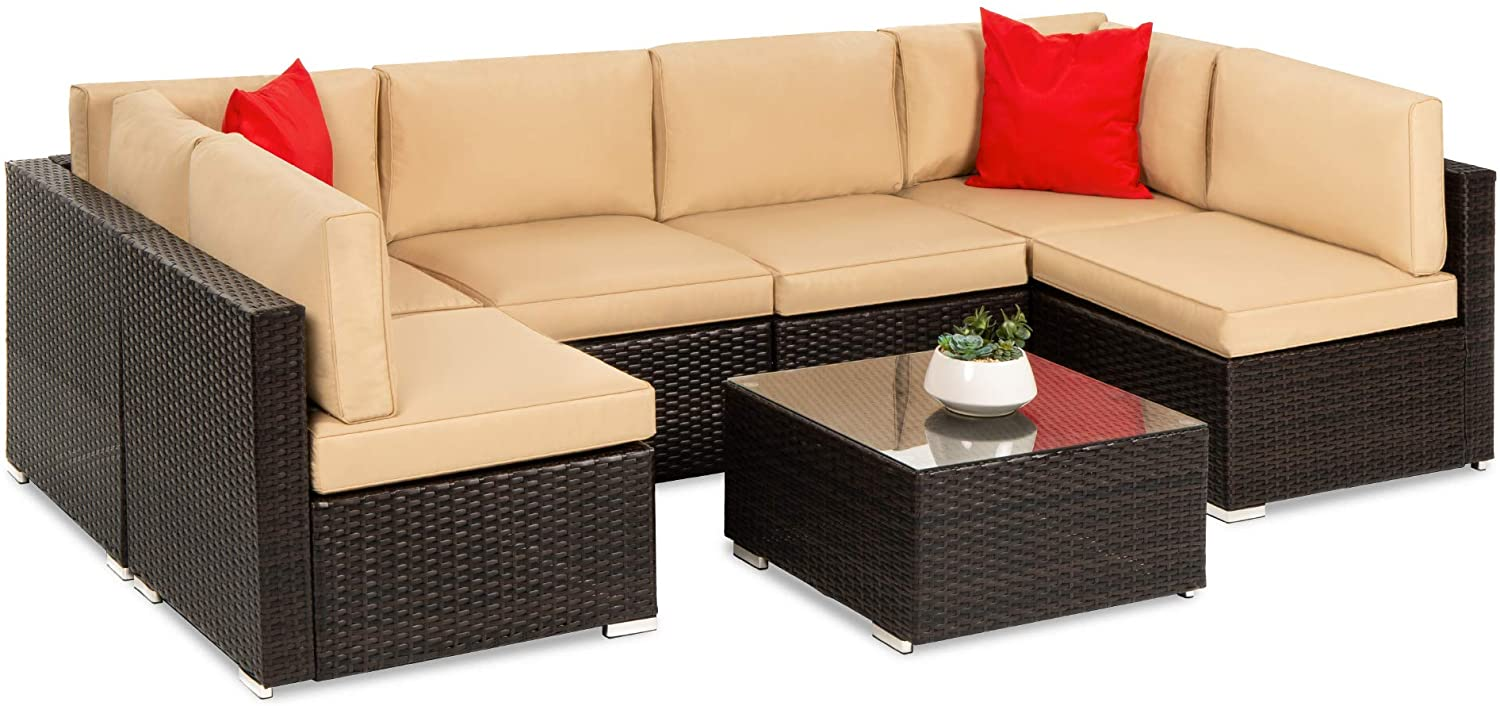 Best Choice Products 7-Piece Outdoor Dining Set