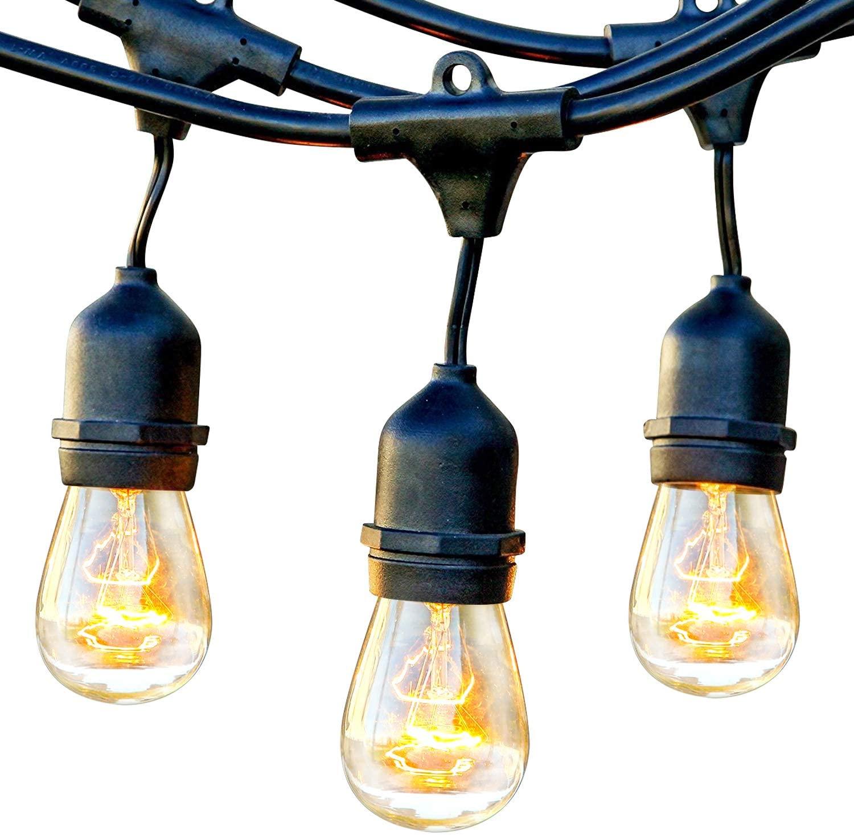 Brightown Outdoor String Lights-25Ft G40 Globe Patio Lights