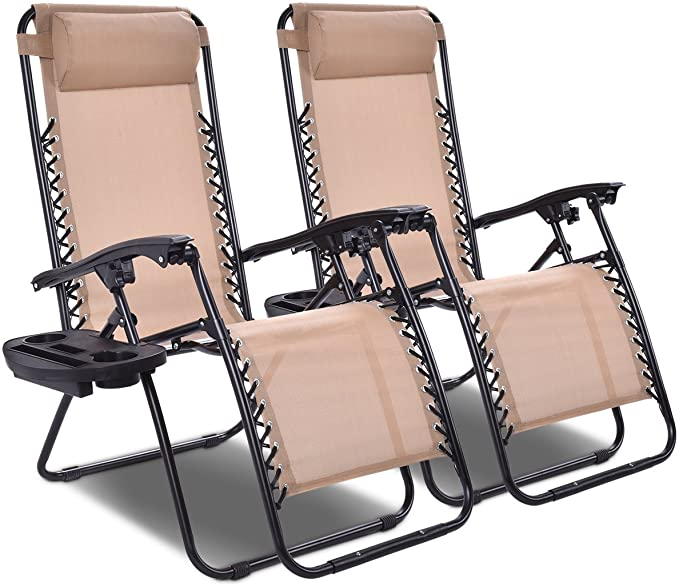 Goplus 2PC Zero Gravity Chairs