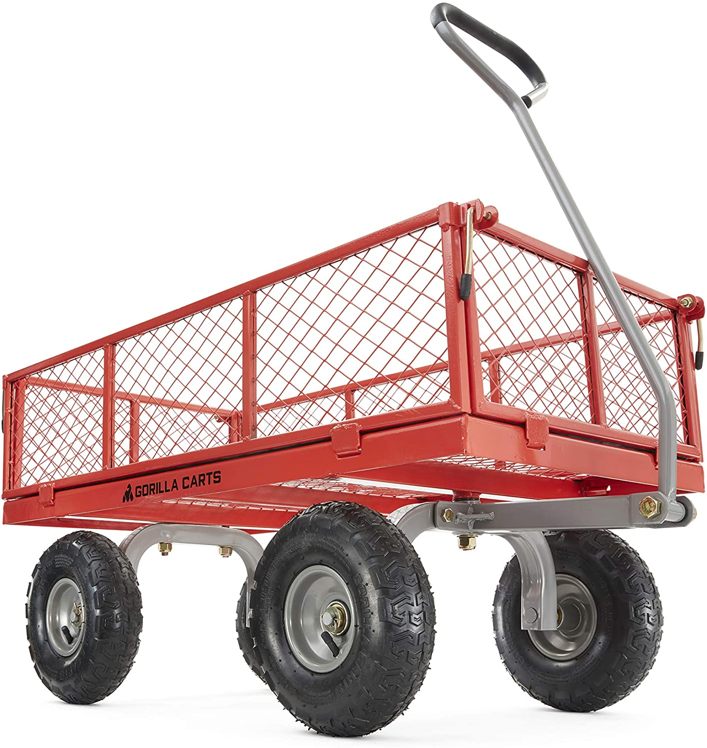 Gorilla Carts GOR800-COM Steel Utility Cart with Removable Sides