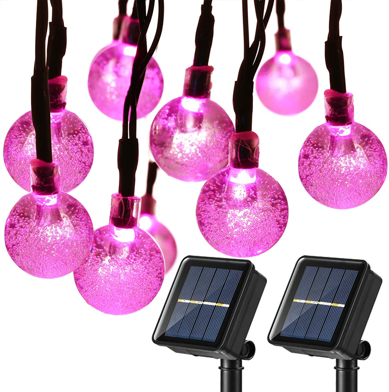 Joomer 2 Pack Globe Solar String Lights