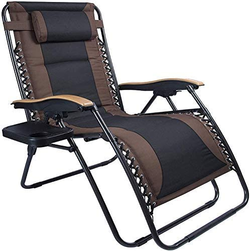 LUCKYBERRY Deluxe Oversized Padded Zero Gravity Chair