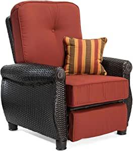 La-Z-Boy Outdoor Breckenridge Resin Wicker Patio Furniture Recliner
