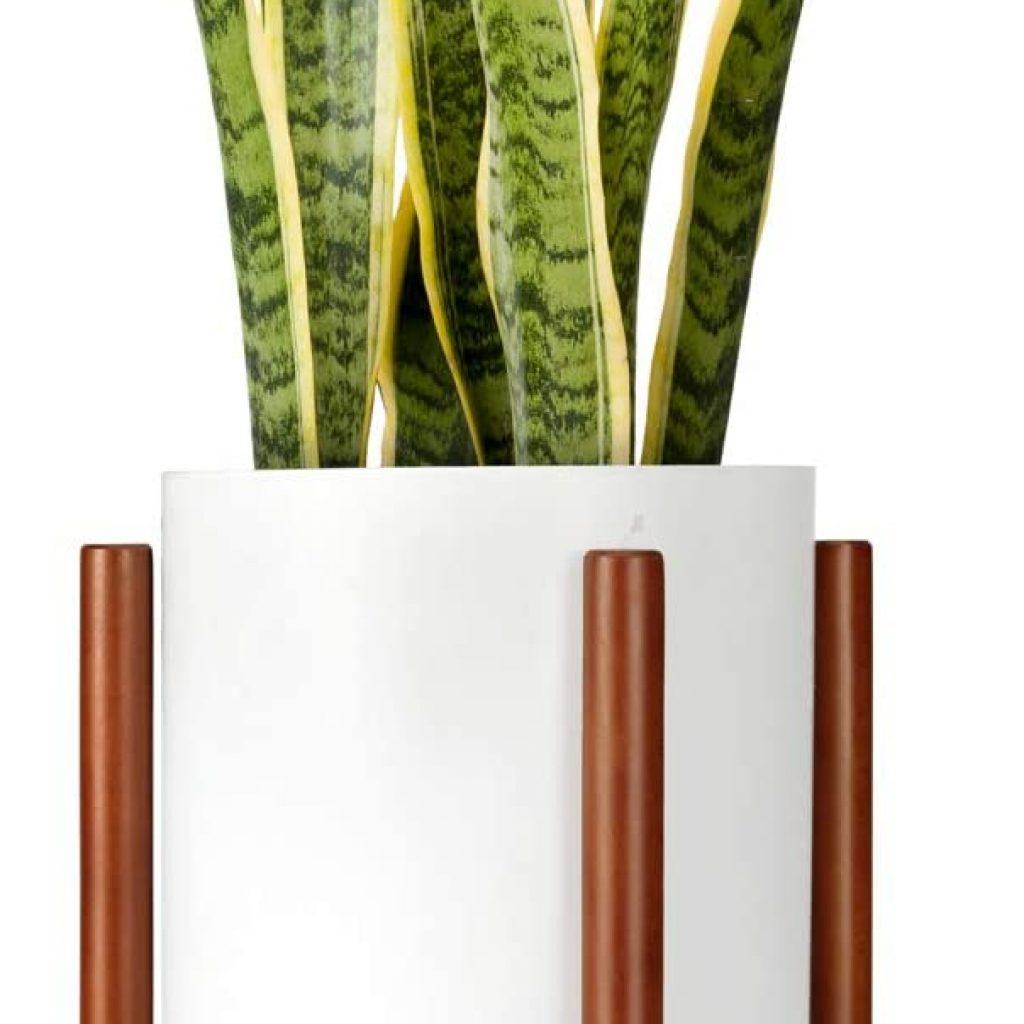 Mkono Wood Plant Stand