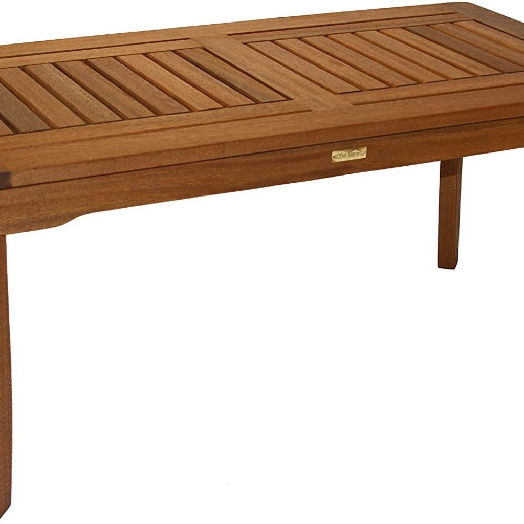 Outdoor Interiors 390070 Eucalyptus Coffee Table
