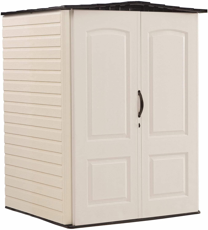 Rubbermaid Vertical Resin Outdoor Garden Storage Cabinet