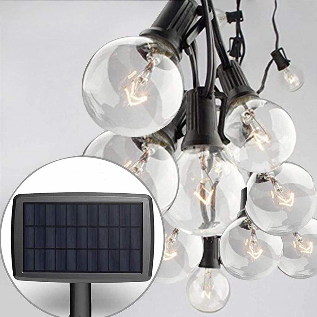 Sunlitec Solar String Lights Waterproof LED Indoor/Outdoor Hanging Umbrella Lights