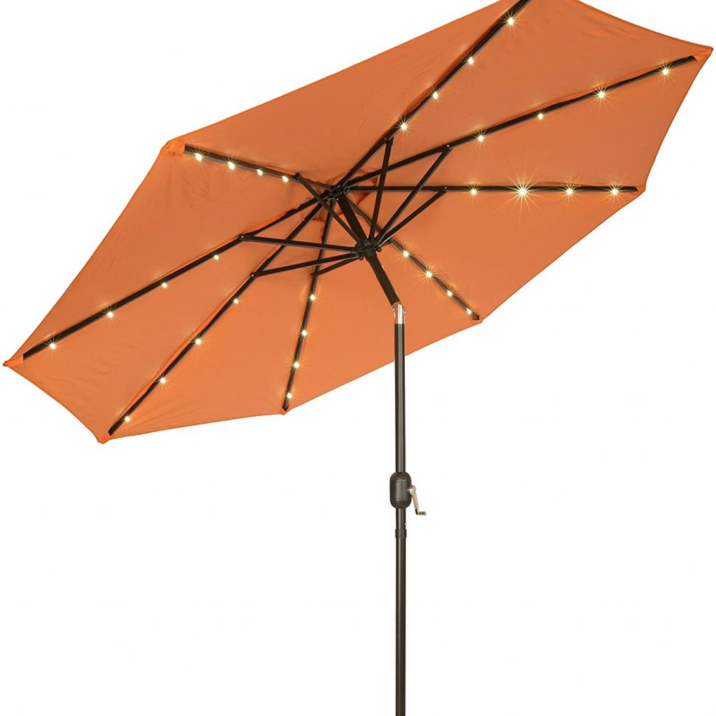 Trademark Innovations 7' Solar LED Patio Umbrella