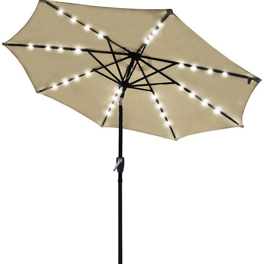 Yescom LED Light Outdoor Patio Umbrella